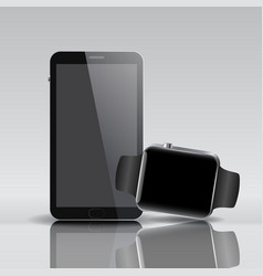 smart electronic intelligence watch phone vector image