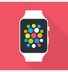 Smart Watch Flat Stylized vector image
