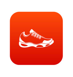 Sneakers for tennis icon digital red vector