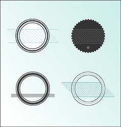 Stickers labels frames vector