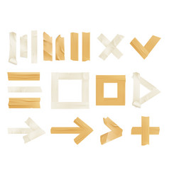 Sticky adhesive tape realistic icon set vector