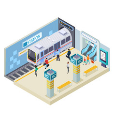 subway station isometric vector image
