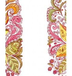 summer abstract floral pattern vector image