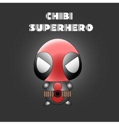 Superhero in chibi style vector image
