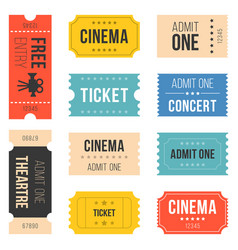 Ticket set for cinema vector
