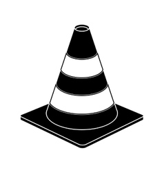 Traffic cone warning sign design pictogram vector
