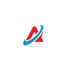 Triangle a curve logo vector
