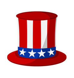 uncle sam hat icon happy 4 th july and vector image