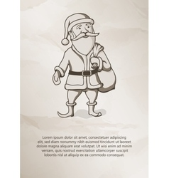 Vintage style Father Christmas Santa Claus vector image