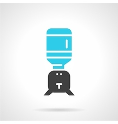 Water cooler jug black and blue icon vector