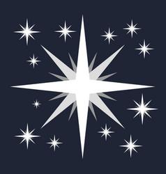 white flat star minimalist symbol vector image
