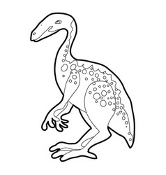 Young dinosaur icon outline vector