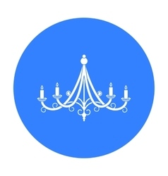 Chandelier icon in black style isolated on white vector image vector image