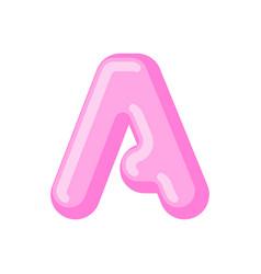 letter a candy font caramel alphabet lollipop vector image