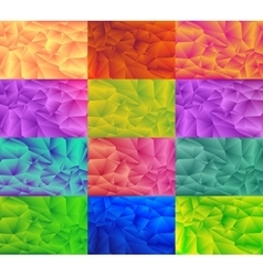 low poly style graphic background Set vector image vector image