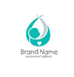 newborn baby logo concept vector image vector image