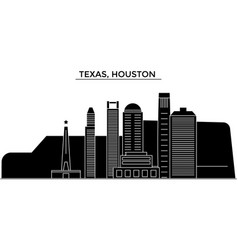 usa texas houston architecture city vector image