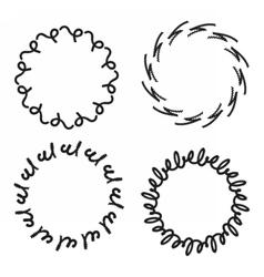 Wreath circle pattern vector image vector image