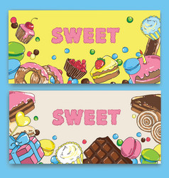 Flyer template on baking and sweets vector