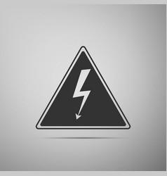 high voltage sign danger symbol warning icon vector image vector image