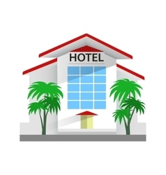 Hotel building Travel and vector image
