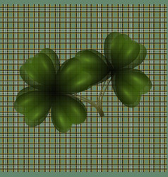 image of leaf clover translucent background in vector image vector image