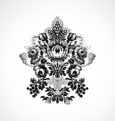 Richly decorated with a bouquet of flowers vector image vector image