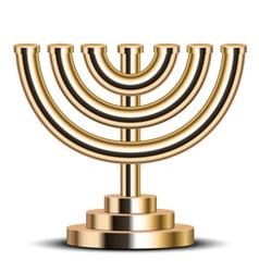 gold menorah vector image
