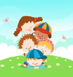 Kids Having fun vector image vector image