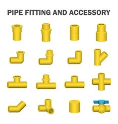 Pipe fitting icon vector image vector image