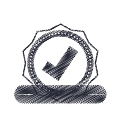 Seal of guarantee with approval symbol vector image vector image