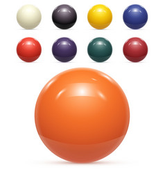 Set of colorful Balls Isolated vector image