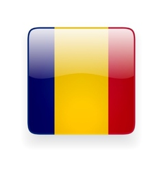 Square icon with flag of Romania vector image