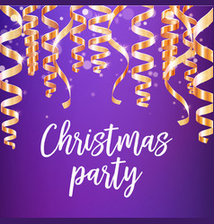 christmas party poster of winter holidays design vector image