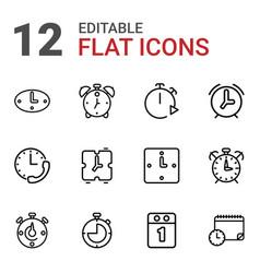 12 deadline icons vector