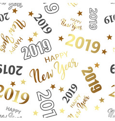 2019 number seamless pattern vector image