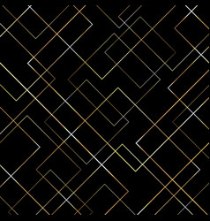 Abstract geometric gold lines pattern on black vector