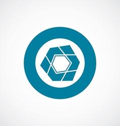 Abstract pentagon icon bold blue circle border vector