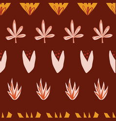Abstract stylized autumn leaves seamless vector