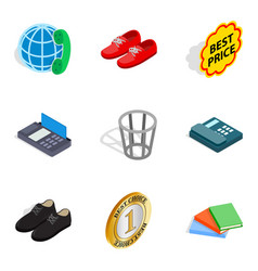 advertisement icons set isometric style vector image vector image