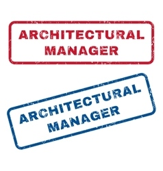Architectural Manager Rubber Stamps vector