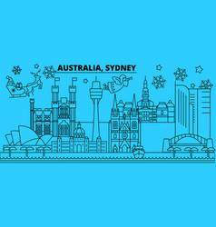Australia sidney city winter holidays skyline vector