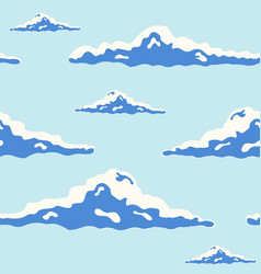 beautiful seamless pattern with curly clouds of vector image
