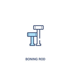 Boning rod concept 2 colored icon simple line vector