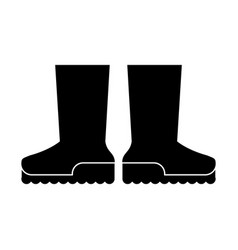 Boots rubber gardening pictogram vector