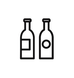 bottles icon vector image