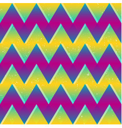 bright color zigzag seamless pattern vector image