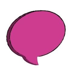 Bubble comic speakbox vector