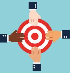 Business cooperation teamwork concept flat design vector