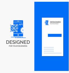 Business logo for api application coding vector